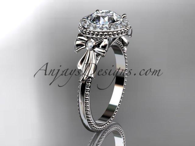 platinum diamond unique engagement ring,wedding ring ADER157