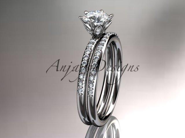 platinum diamond unique engagement ring,wedding ring ADER145S
