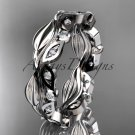 Platinum diamond leaf and vine wedding ring, engagement ring, wedding band ADLR268