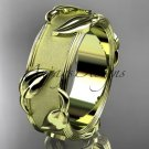 14kt yellow gold leaf and vine wedding ring, engagement ring ADLR252G