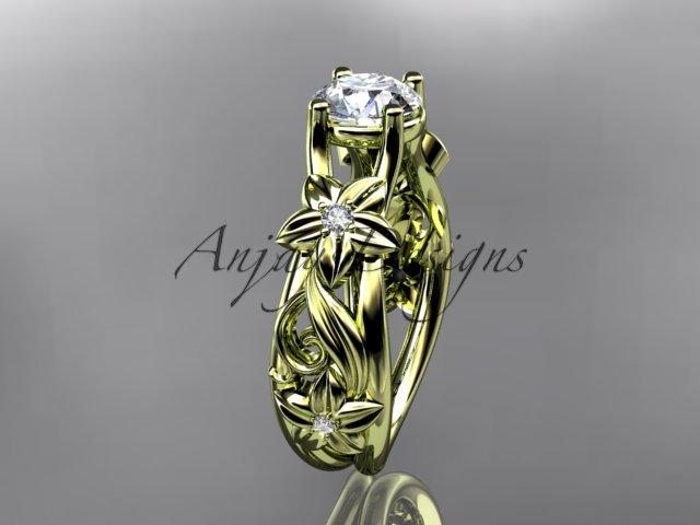 14kt yellow gold diamond engagement ring ADLR216