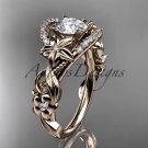 14kt rose gold diamond unique engagement ring,wedding ring ADLR211