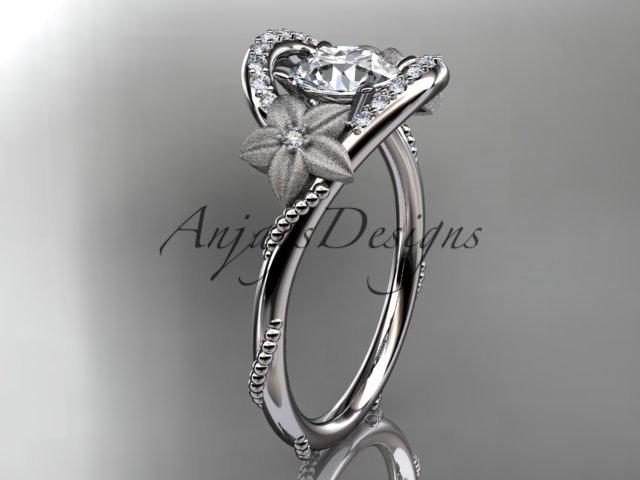 Platinum diamond unique engagement ring ADLR166