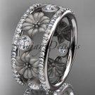 Platinum diamond flower wedding ring, engagement ring ADLR239