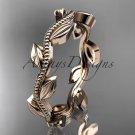 14k rose gold leaf and vineengagement ring ADLR4G
