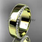 14kt yellow gold classic wedding band, diamond engagement ring ADLR380B