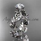 14kt white gold diamond celtic trinity knot wedding ring, bridal ring CT7124