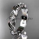 platinum diamond leaf and vine wedding ring, engagement ring, wedding band  ADLR19