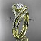 14kt yellow gold diamond wedding ring, engagement set ADLR383S