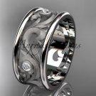 14kt white gold diamond engagement ring, wedding band ADLR121BB
