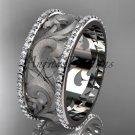 platinum  diamond engagement ring, wedding band ADLR121BD