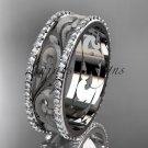 Platinum  diamond engagement ring, wedding band ADLR414BD