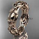14kt rose gold leaf and vine wedding band,engagement ring ADLR152G