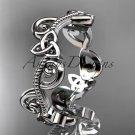 Platinum  celtic trinity knot wedding band, engagement ring CT7138G