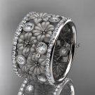Platinum diamond flower wedding ring, engagement ring ADLR232