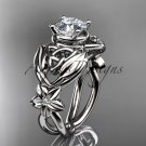 14kt white gold diamond celtic trinity knot wedding ring, engagement ring CT7501