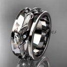 14kt white gold diamond engagement ring, wedding band ADLR417B