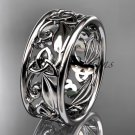 14kt white gold celtic trinity knot wedding band, engagement ring CT7150G