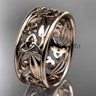 14kt rose gold celtic trinity knot wedding band, engagement ring CT7150G