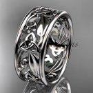 Platinum  celtic trinity knot wedding band, engagement ring CT7150G