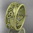 14k yellow gold celtic trinity knot wedding band, matte finish wedding band, engagement ring CT7150G