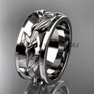 14kt white gold engagement ring, wedding band ADLR417G