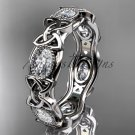 14kt white gold celtic trinity knot wedding band, engagement ring CT7152B