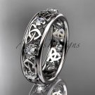 14kt white gold celtic trinity knot wedding band, engagement ring CT7503B