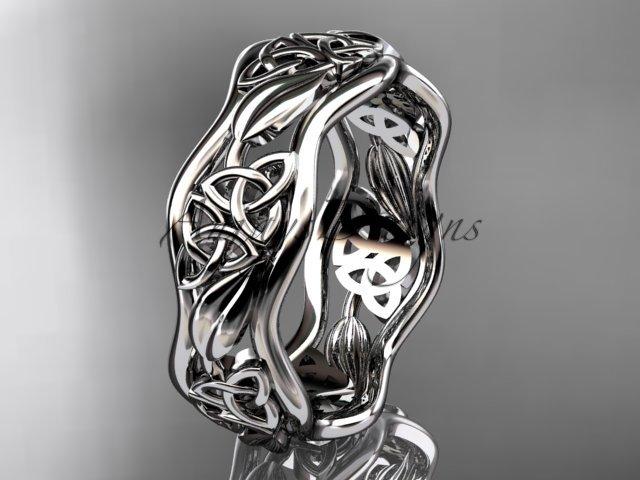 platinum  celtic trinity knot wedding band, engagement ring CT7506G