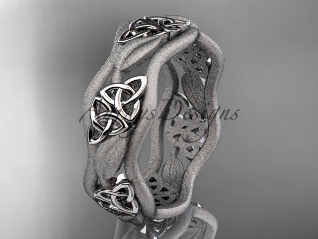 platinum  celtic trinity knot wedding band, engagement ring CT7506GM