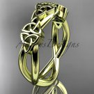 14kt yellow gold celtic trinity knot wedding band, engagement ring CT7505G