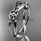 platinum  celtic trinity knot wedding band, engagement ring CT7505G
