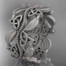 platinum  celtic trinity knot wedding band, matte finish wedding band, engagement ring CT7188