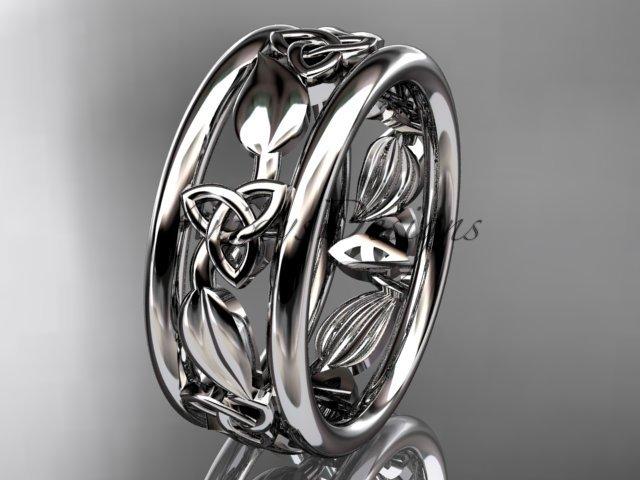 Platinum  celtic trinity knot wedding band, engagement ring CT7233G