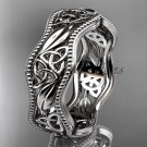 platinum  celtic trinity knot wedding band, engagement ring CT7508G