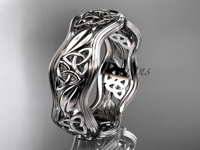 Platinum celtic trinity knot wedding band, engagement ring CT7510G