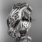 Platinum celtic trinity knot wedding band, engagement ring CT7510G