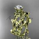 14kt yellow gold diamond celtic trinity knot wedding ring, engagement ring, Moissanite CT7248S