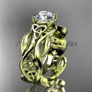 14kt yellow gold celtic trinity knot wedding ring, engagement ring CT7264