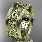 14kt yellow gold celtic trinity knot wedding band, engagement ring CT7236G