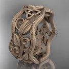 14kt rose gold celtic trinity knot wedding band, matte finish wedding band, engagement ring CT7263G