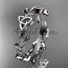 Platinum celtic trinity knot wedding band, engagement ring CT7509G