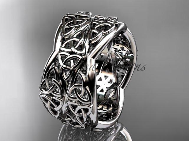 platinum  celtic trinity knot wedding band, engagement ring CT7352G