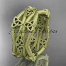 14k yellow gold celtic trinity knot wedding band, matte finish wedding band, engagement ring CT7517G