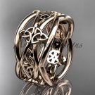 14kt rose gold celtic trinity knot wedding band, engagement ring CT7519G