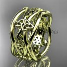 14kt yellow gold celtic trinity knot wedding band, engagement ring CT7519G