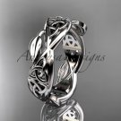 14kt white gold celtic trinity knot wedding band, triquetra ring, engagement ring CT7520G