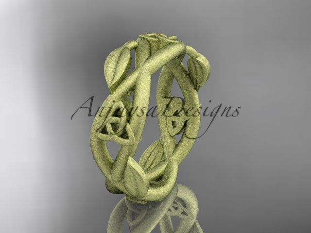 14kt yellow gold celtic trinity knot , matte finish,  triquetra ring, engagement ring CT7403G