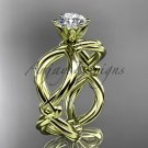 14kt yellow gold twisted rope wedding ring RP8192
