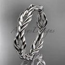 14k white gold twisted rope wedding band RP8117G
